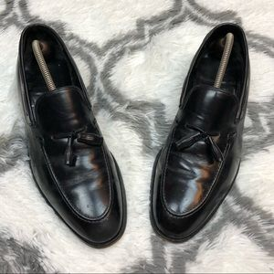Johnston & Murphy Black Tassel Loafers 10.5 D